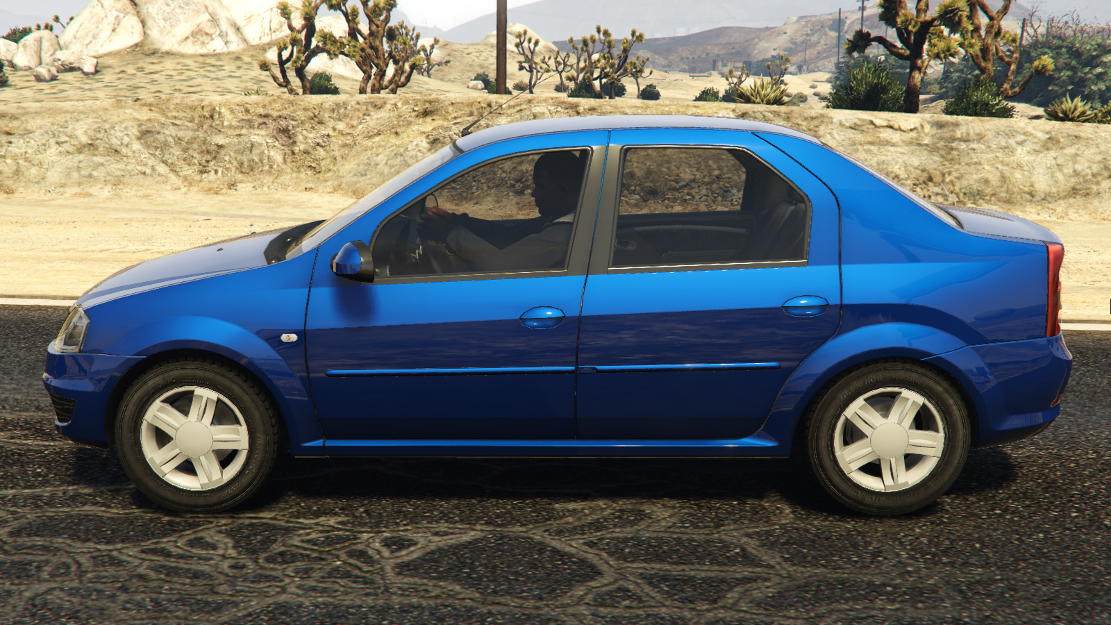 2008 Dacia Logan для GTA V - Скриншот 1