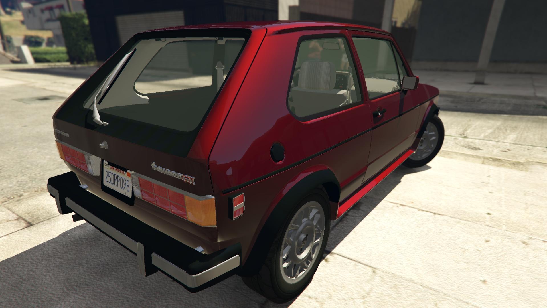 Volkswagen Rabbit 1986 для GTA V - Скриншот 2